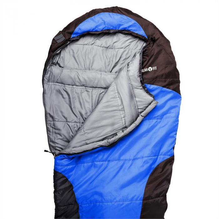 Gullfoss makuupussi 230x80x55cm 2-kerroksinen 1,5kg tekokuitu sininen