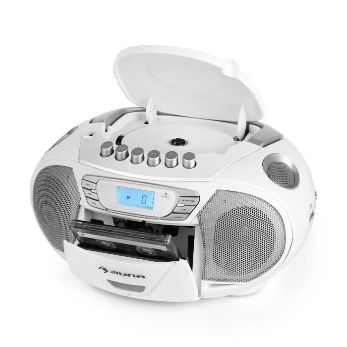 KrissKross Ghetto blaster Radio portatile USB MP3 bianco