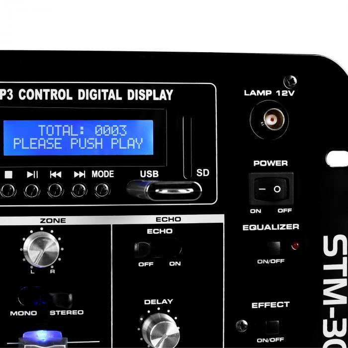 STM-3007 6-kanavainen DJ-mikseri Bluetooth USB SD MP3
