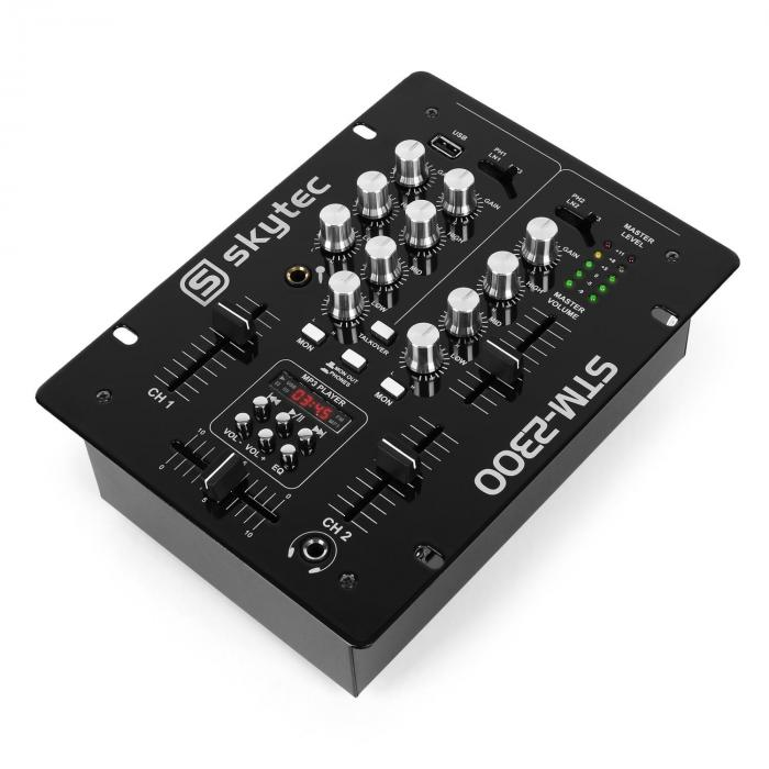 STM-2300 Mixer 2 canali USB MP3 EQ