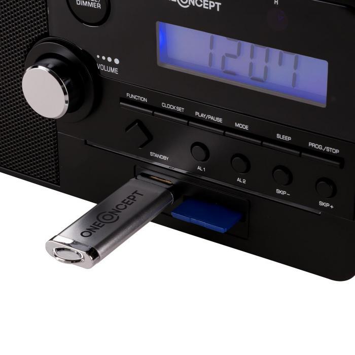 Luzern radio-väckarklocka SD USB