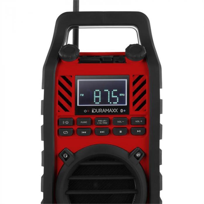 862-BT-RD Baustellenlautsprecher MP3 USB SD AUX Bluetooth rot