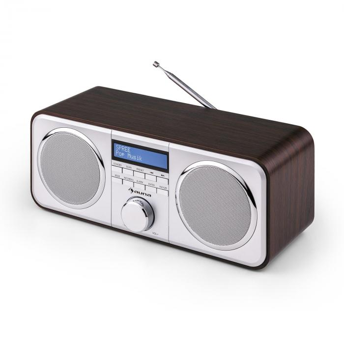 Georgia DAB-Radio DAB+ FM AUX Marrone Scuro