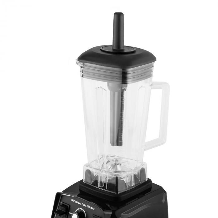 Herakles 2G Batidora vertical negra con cubierta 1200W 1,6 PS 2 litros libre de BPA