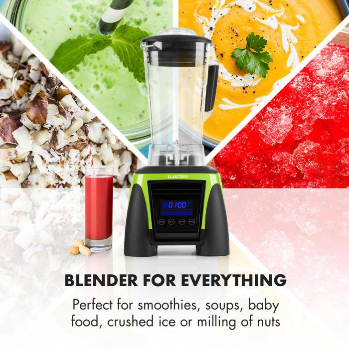 Appleberry Hulk tehosekoitin 1800W 2 litraa 38.000 kierrosta/min vihreä BPA-free