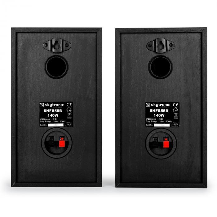 SHFB55B Paar passive Hifi-Regallautsprecher 140W schwarz