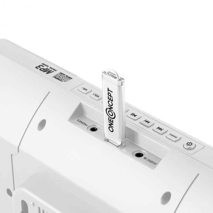 V-13 BT Impianto Stereo CD MP3 Bluetooth Bianco
