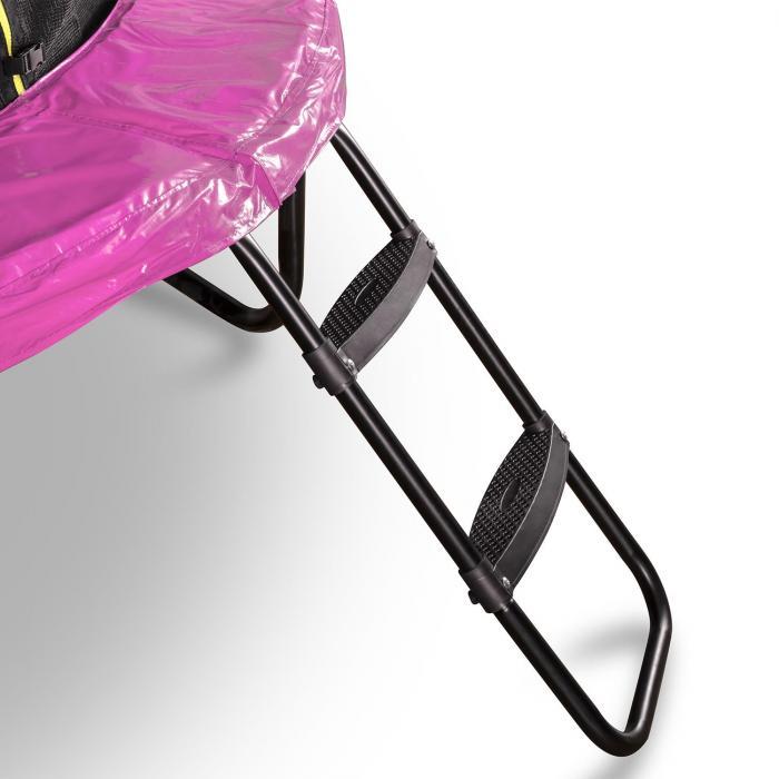 Rocketgirl 250 Trampolin 250cm Sicherheitsnetz innen, breite Leiter pink