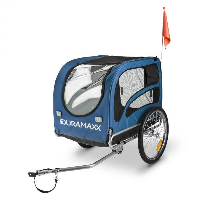 King Rex Rimorchio BiciclettaPorta Cani Per 250 l 40 kg Nero-Blu