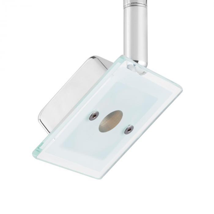 Vegard 1 Lampada Spot LED 5W 400lm Girevole Cromata Vetro
