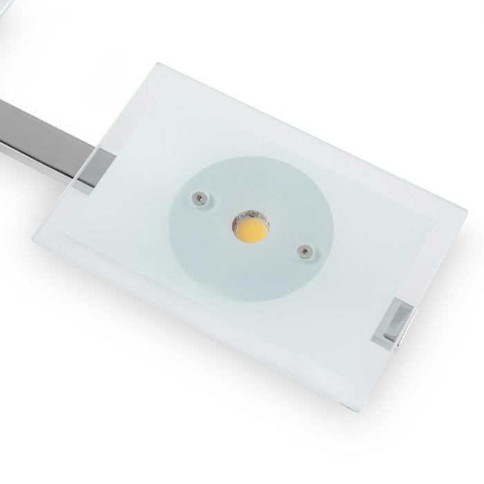 Vegard 5 Lampada a SospensioneLED 5x5W 400lm Cromata Vetro