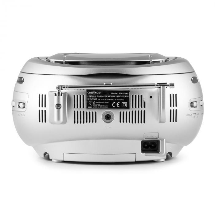Groovie SL Boombox Bluetooth CD MP3 Argento