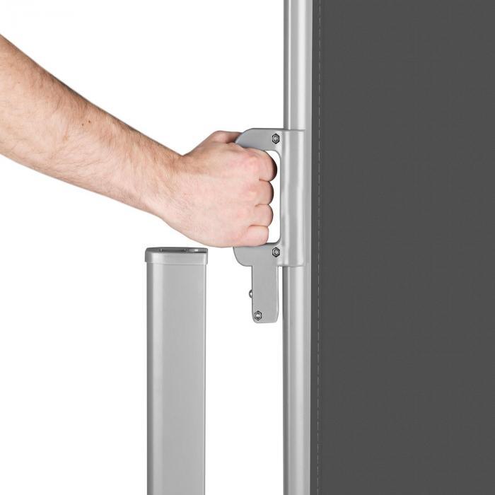 Bari 316 sivumarkiisi 300x160cm alumiini antrasiitti