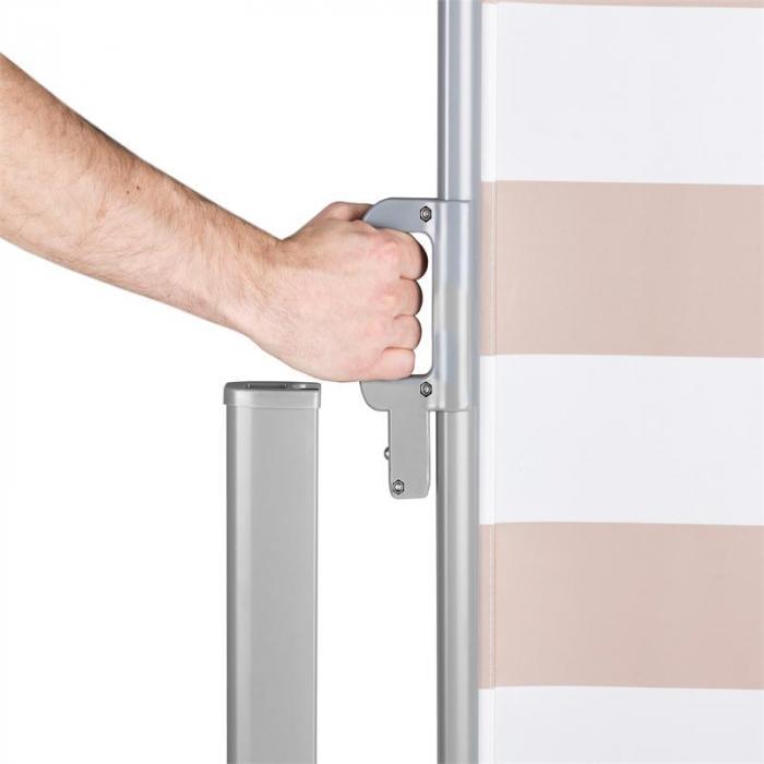 Bari 316 sivumarkiisi 300x160cm alumiini kerma/valkoinen