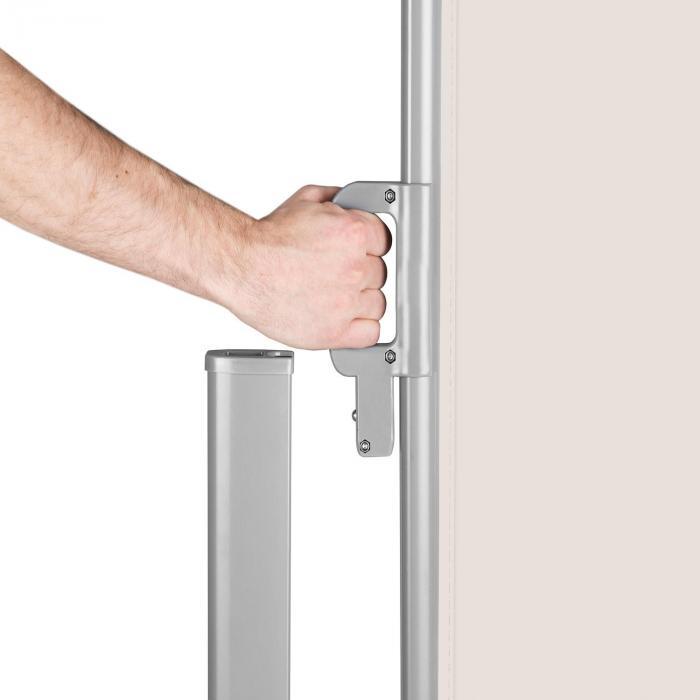 Bari 318 Seitenmarkise Seitenrollo 300x180cm Aluminium creme