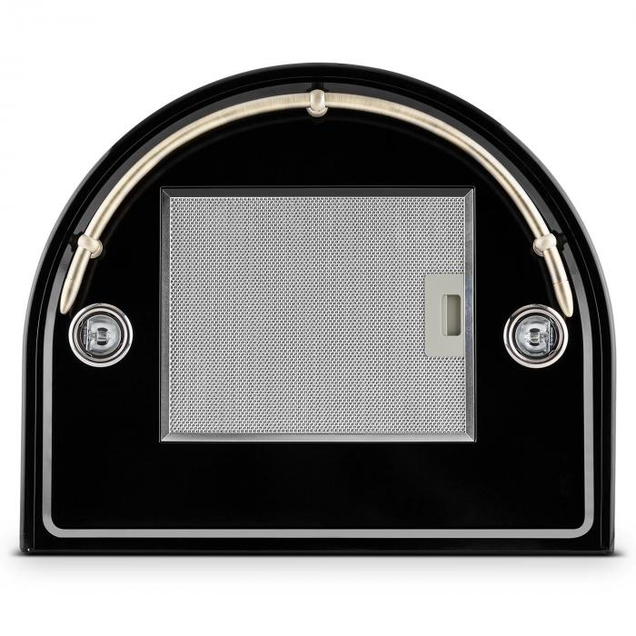 Lumio Primo retro-liesituuletin 60cm 430m³/h jaloteräs musta