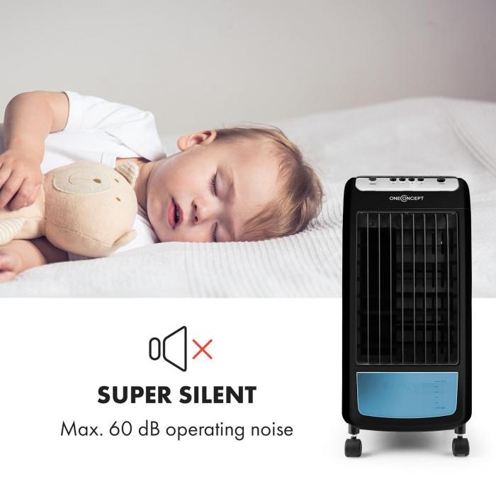 Caribbean Blue Air Cooler Fan Air Freshener 70W White / Black