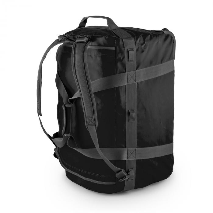 Travel L matkalaukku 90l reppu trolley vedenkestävä musta