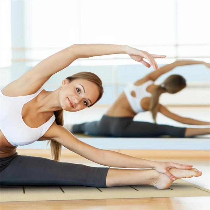 Yosalo Yogamatte Gymnastikmatte Beige inkl. Umhängetasche