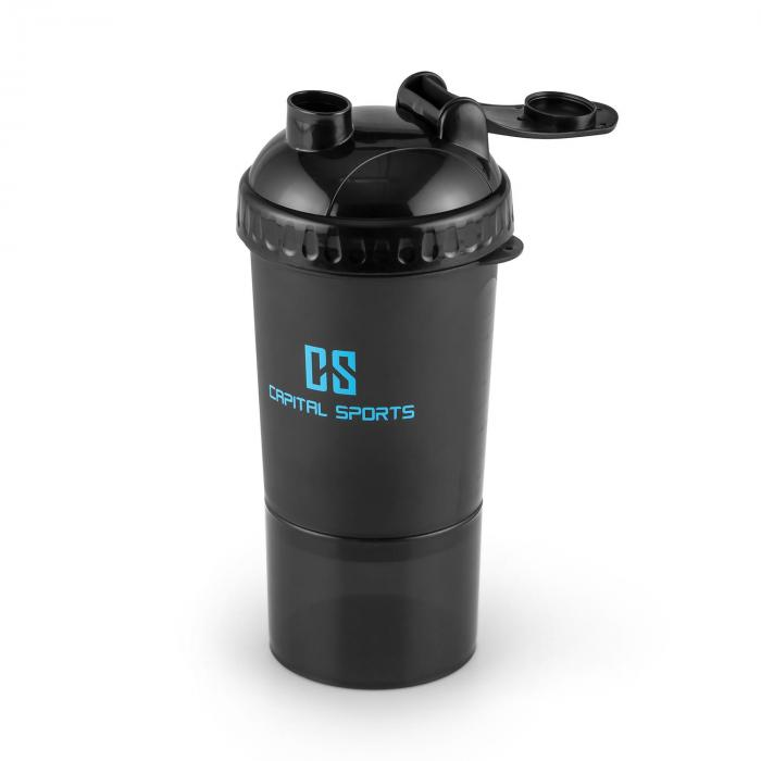 Shakster Shaker Bevande Proteiche 600ml Sfera Mix Portapillole Ne