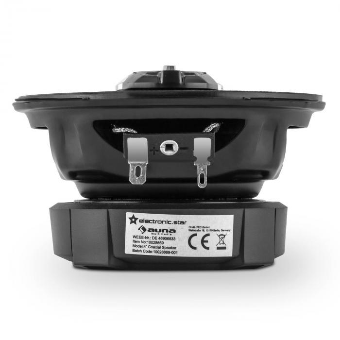 """CS410 Altavoz coaxial de 4 vías 10 cm (4"""") 80W Bronce Carbón"""