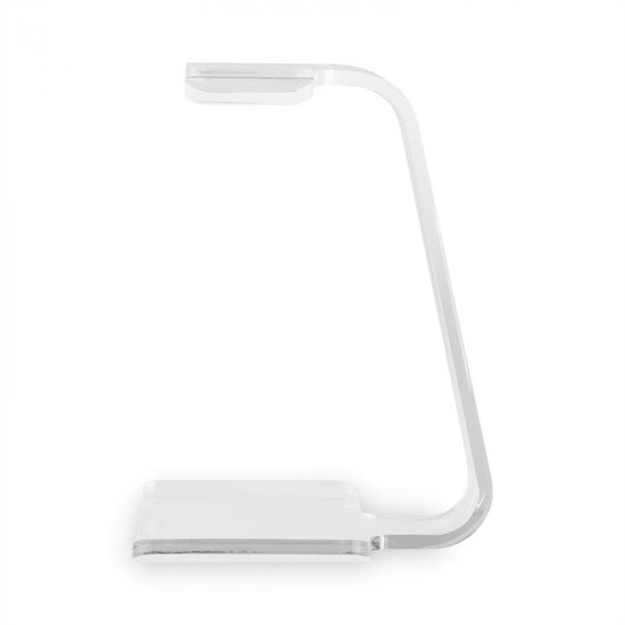 Stojak / wieszak na słuchawki półka 8mm szkło akrylowe przezroczyste