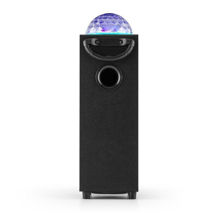 DiscoStar Portable 2.1 Bluetooth Speaker Mic in Jellyball LED USB SD Black