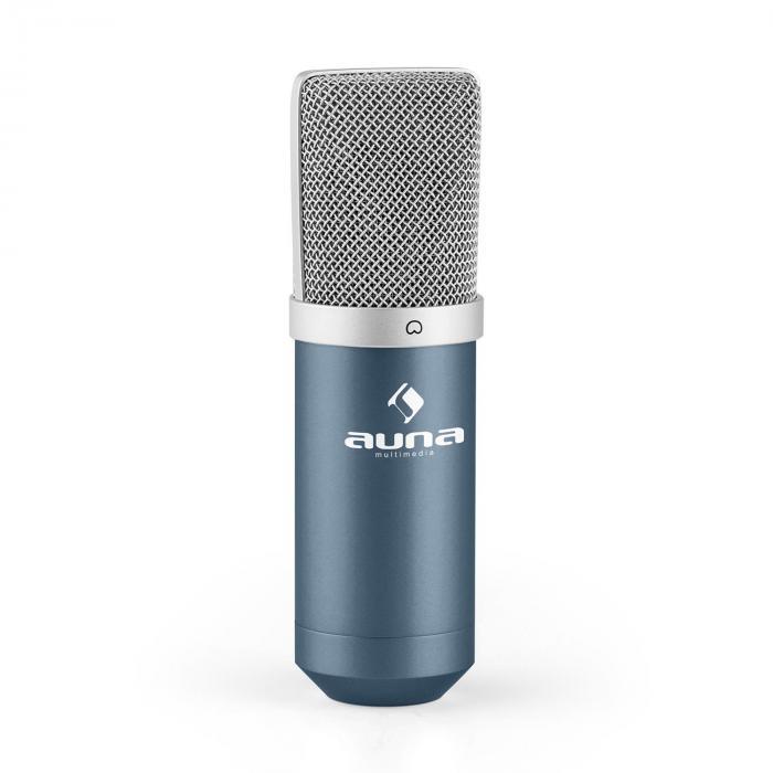Auna MIC-900BL USB mikrofonisetti V3 kondensaattorimikrofoni + mikrofoniteline sininen