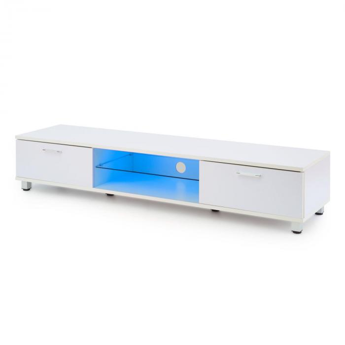 Keira matala TV-taso LED-tunnelmavalo värinvaihto valkoinen