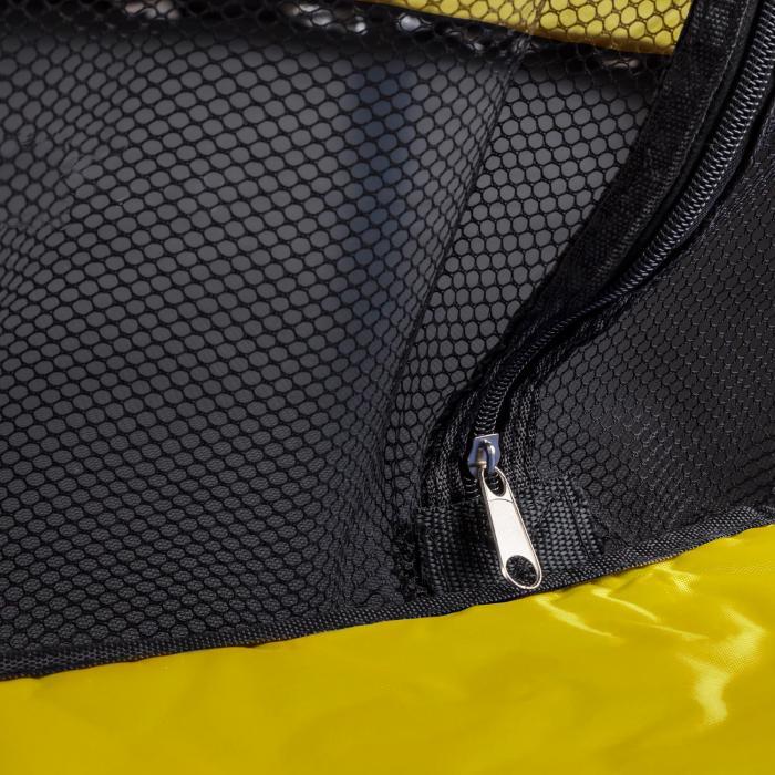 Rocketkid 3 Trampolin 140cm Sicherheitsnetz Bungeefederung gelb