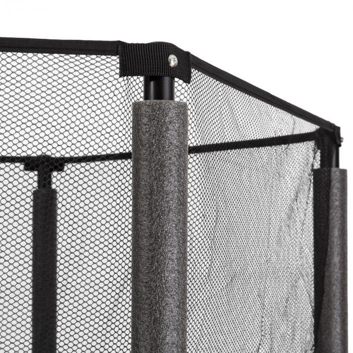 Rocketkid 4 trampoliini 140 cm turvaverkko benjiköysijousitus kukkakuvio