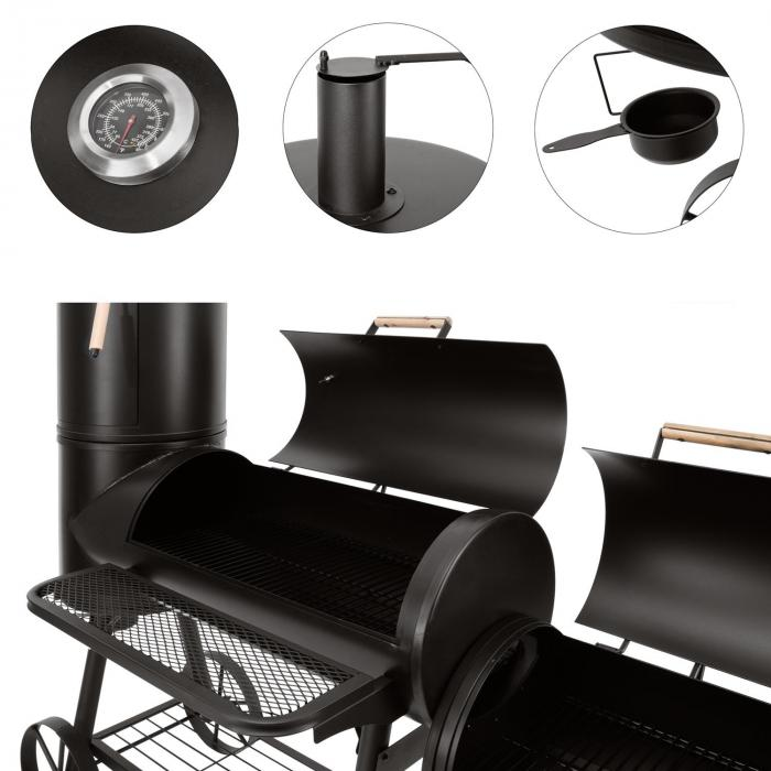 Monstertruck Smoker Grill BBQ rookoven staal zwart