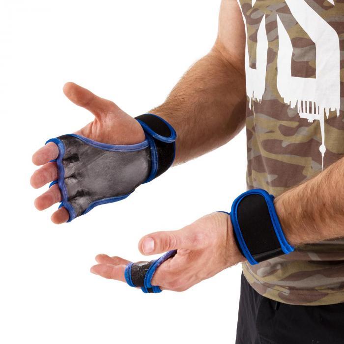 Palm Pro Rękawiczki do podnoszenia ciężarów Wielkość M czarne/niebieskie