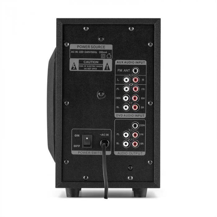 X-Plus 5.1-kanava multimediakaiutin USB SD AUX 100W max.
