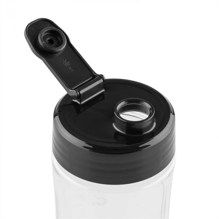 Shiva Mixeur Smoothie 0,8l Pichet en verre 350W Sans BPA inox -noir
