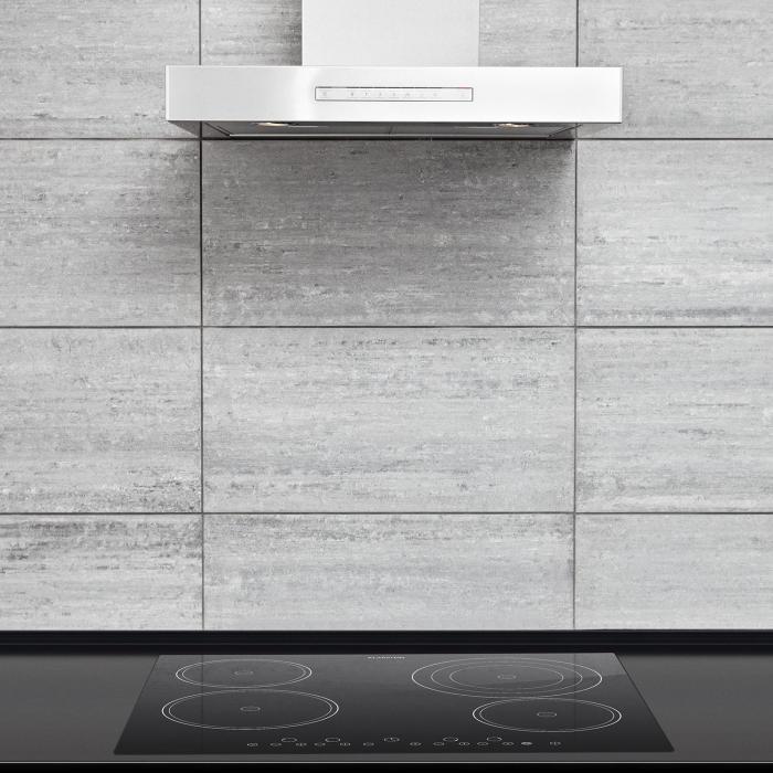 Virtuosa Ceramic Glass Hob Built-in Oven Cooker 6500W 59x52cm