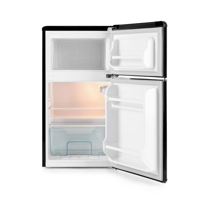 Monroe Black Frigorífico c/ Congelador 61/24 l A+ Aparência Retro Preto