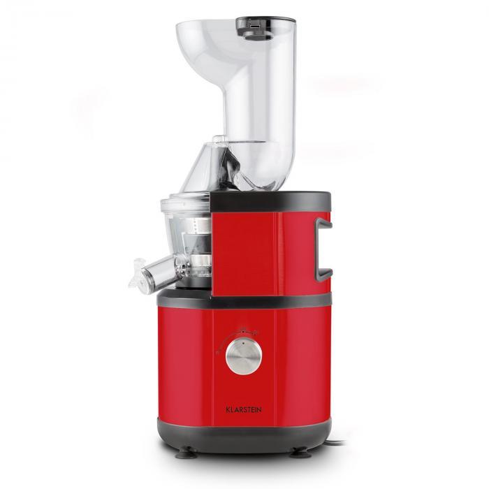 Fruitberry Slow Juicer 400W 60U/min Acciaio Inox Rosso