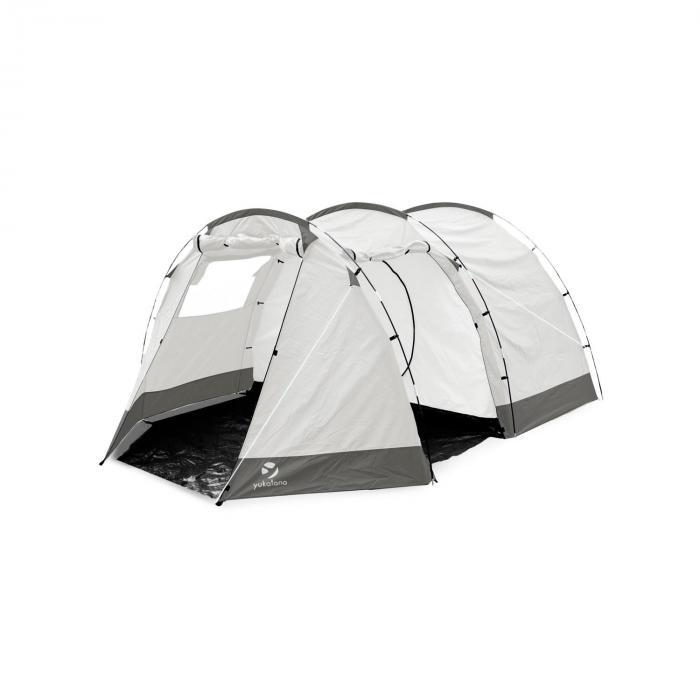 Jomida Tunnelzelt 4 Personen 260x150x410 cm Polyester 3000 mm grau