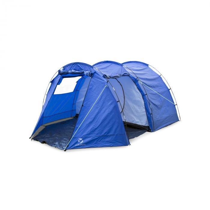 Jomida Tunnelzelt 4 Personen 260x150x410 cm Polyester 3000 mm blau