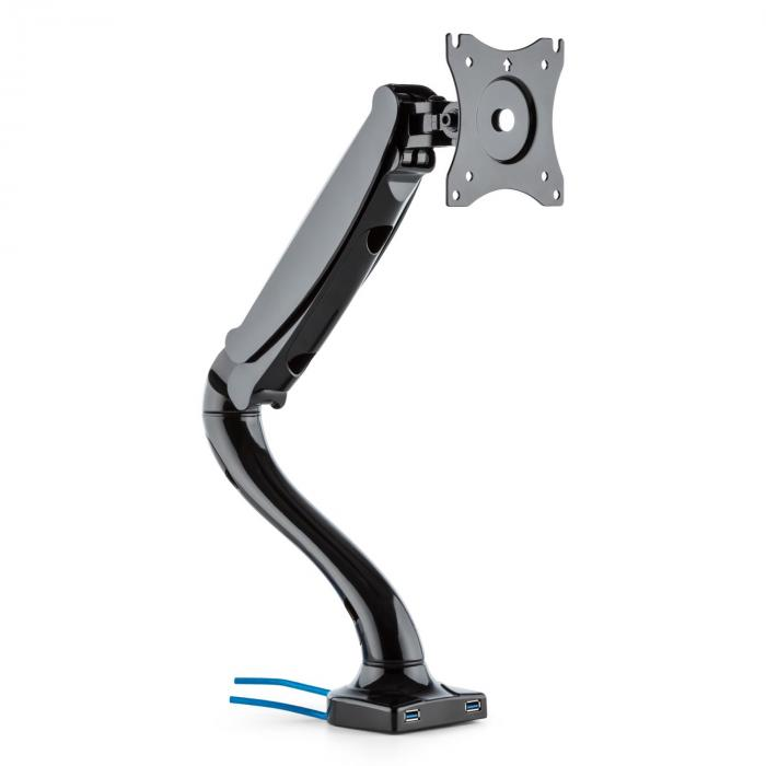 LDT09-C012USB Monitor Desk Mount LED LCD 2 x USB incl. Mounting Kit