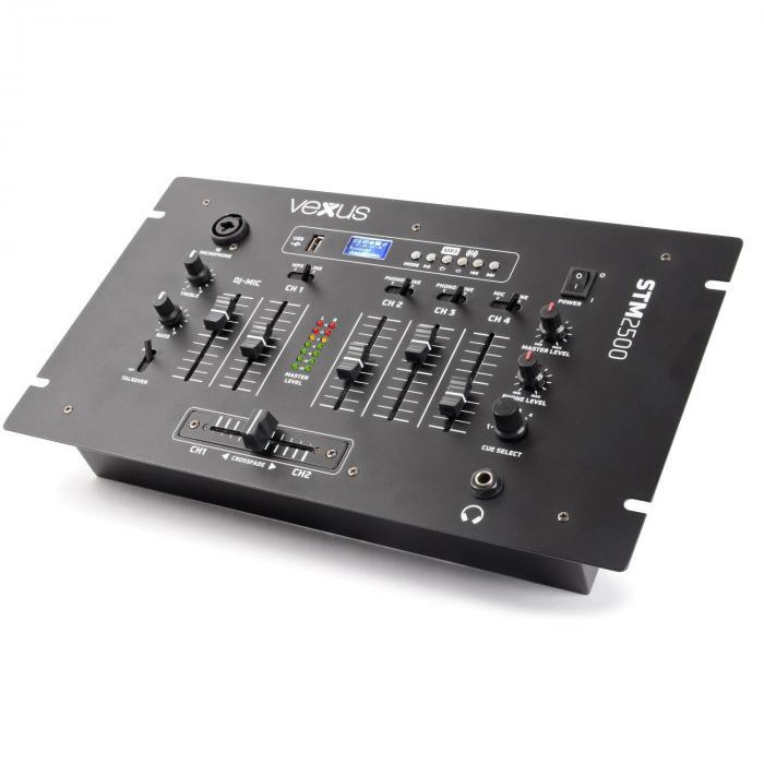 STM2500 5-Kanal-Mischpult Bluetooth USB MP3 EQ Phono