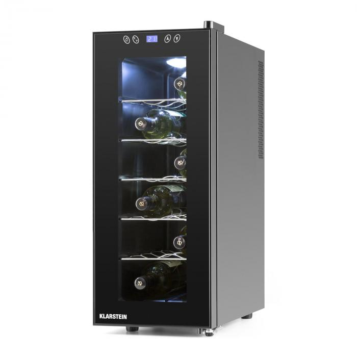 Vinamora Cantinetta frigo 35 litri 12 bottiglie LED Touch nero
