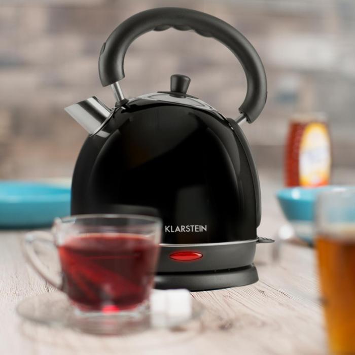 Teatime Bollitore Teiera 1850W 1,8 l Acciaio Inox Nero