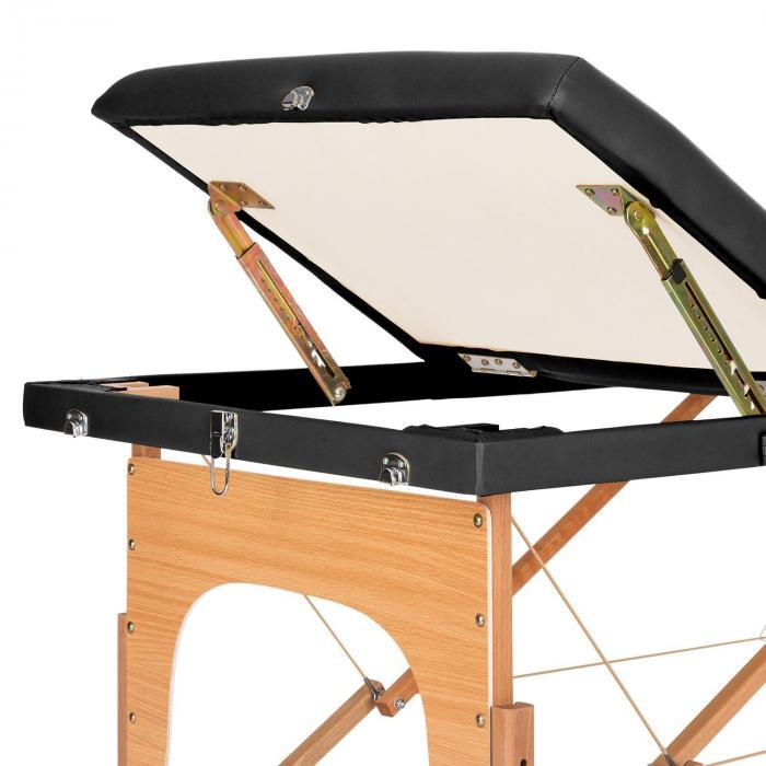 MT 500 Massage Table 210 cm 200 kg Foldable Fine Cell Foam Bag Black