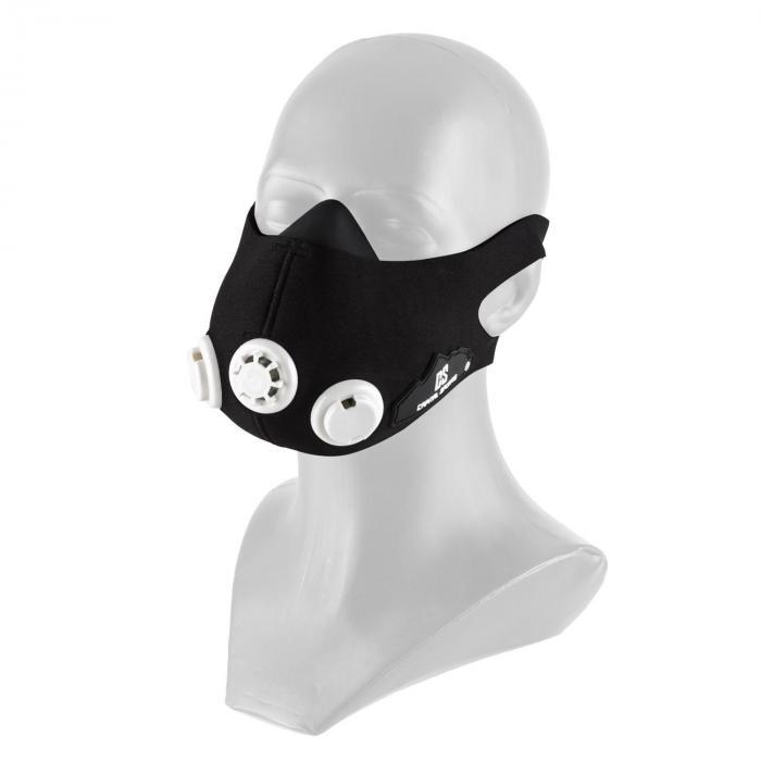 Training mask Breathor Maschera Allenamento Ad Alta Quota Taglia S, 7 valvole Nera