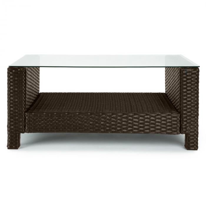verona gartengarnitur 4 teilig polyrattan braun beige rot. Black Bedroom Furniture Sets. Home Design Ideas