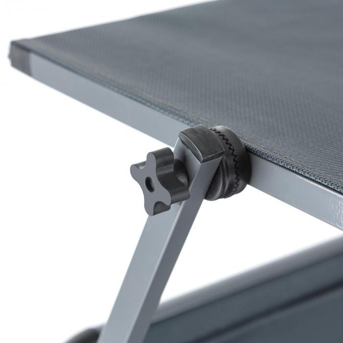 Amalfi Noble Gray Lettino Per Prendere Il Sole 70x37x200 cm Con Parasole Grigio