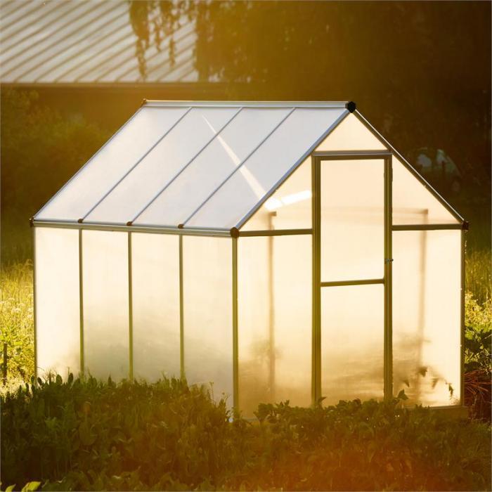 Greencastle kasvihuone 6,7 m3 sis. pohjarungon ja rännin