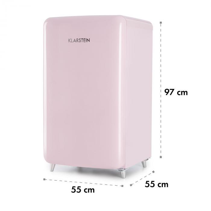 popart pink retro k hlschrank a 108 l 13 l gefrierfach pink rosa online kaufen. Black Bedroom Furniture Sets. Home Design Ideas